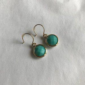 Dainty Circular Drop Earrings